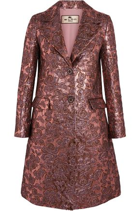 ETRO Metallic floral-jacquard wool-blend jacket