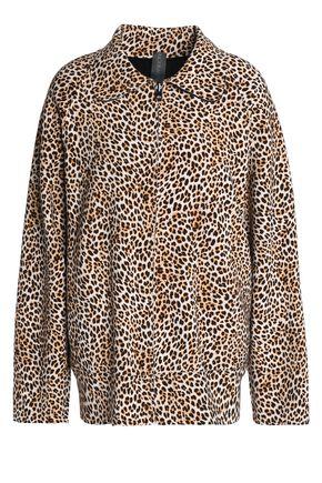 NORMA KAMALI Reversible leopard-print neoprene jacket