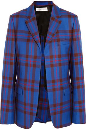 VICTORIA BECKHAM Checked wool blazer