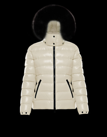 BADYFUR Ivory Short Down Jackets Woman