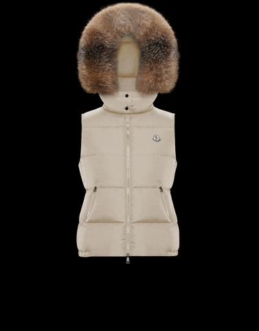 GALLINULE Beige Category Waistcoats Woman