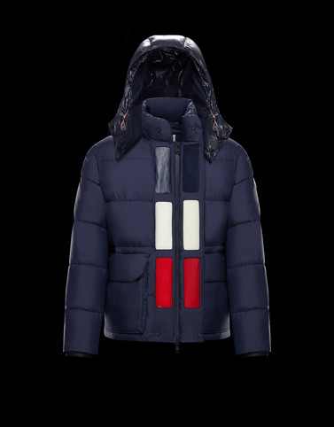 GLACIER Dark blue Down Jackets Man