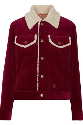 MARC JACOBS Faux shearling-trimmed cotton-corduroy jacket