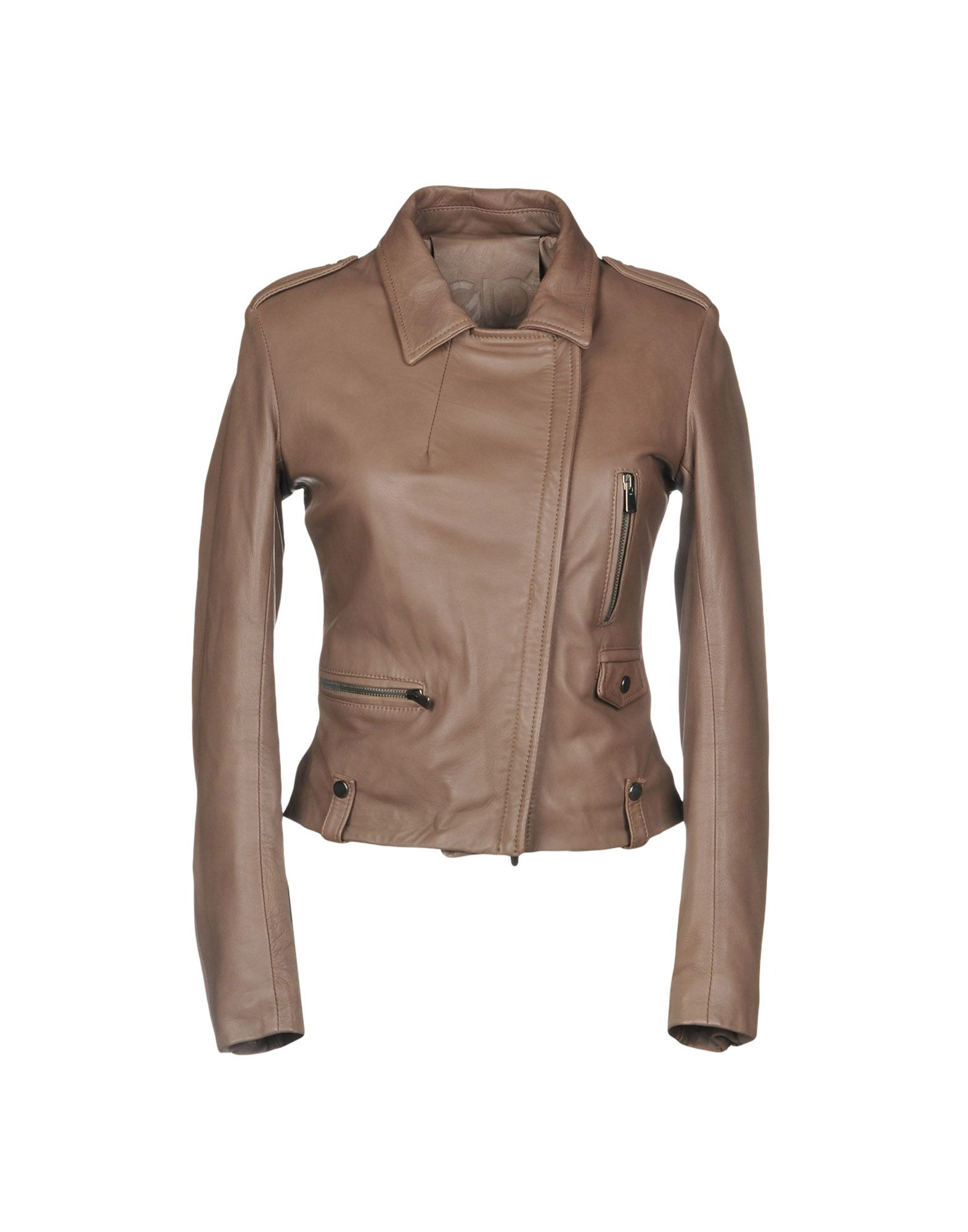 GIO' GUERRERI Biker Jacket in Dove Grey