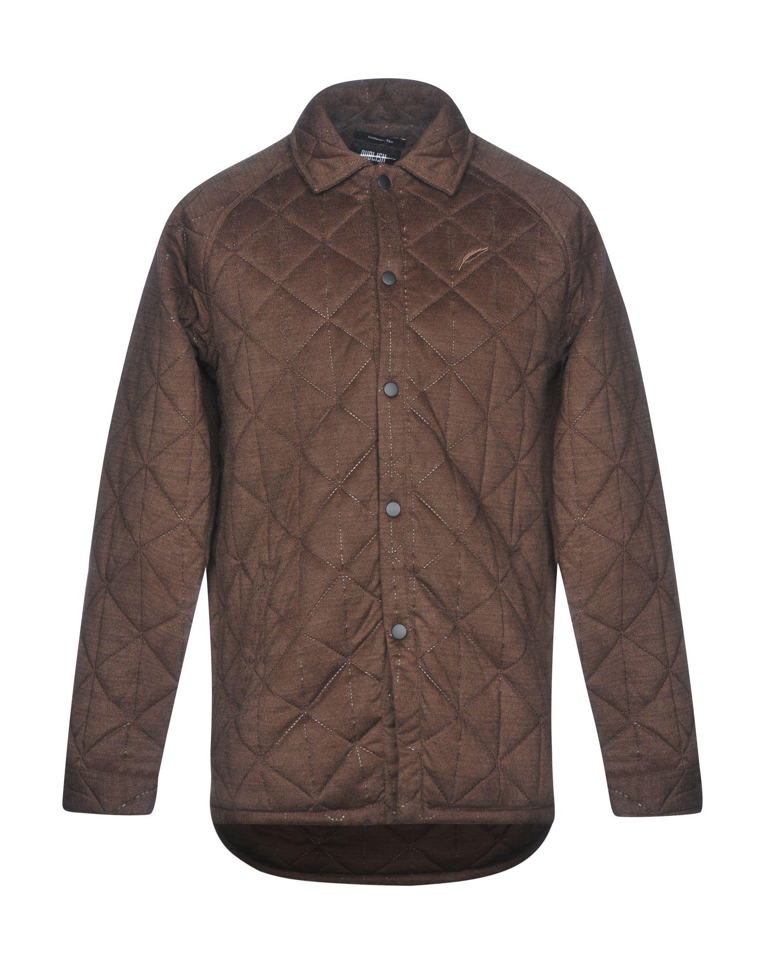 PUBLISH Coat in Dark Brown