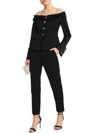 OSMAN Off-the-shoulder cotton-blend twill jacket