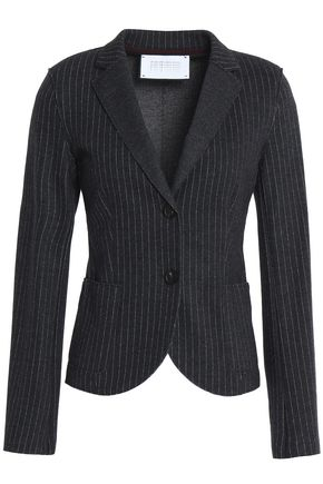 HARRIS WHARF LONDON Pinstriped wool and cotton-blend jacket