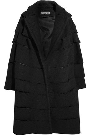 TOM FORD Distressed bouclé coat