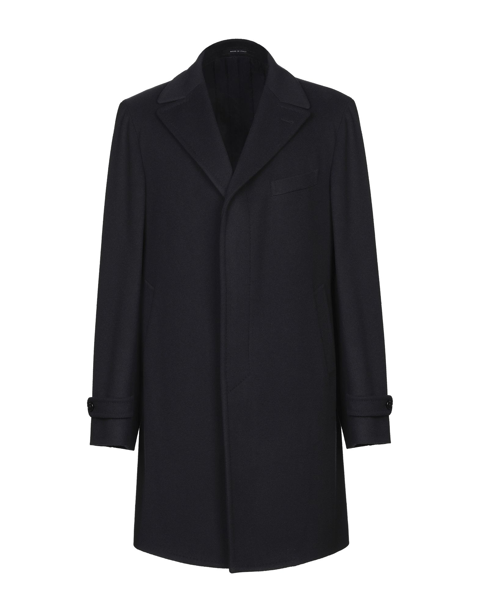 TAGLIATORE Coats. baize, half-belt, basic solid color, single-breasted, button closing, lapel collar, multipockets, long sleeves, strapped cuffs, rear slit, semi-lined, single-breasted jacket. 90% Virgin Wool, 10% Cashmere