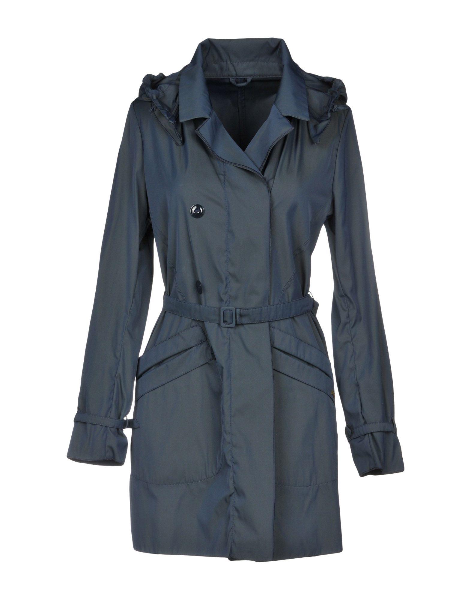 VIOLANTI Double Breasted Pea Coat in Dark Blue