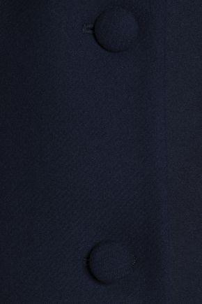 CLAUDIE PIERLOT Faux shearling-trimmed wool-blend felt coat