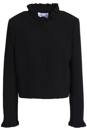 CLAUDIE PIERLOT Ruffle-trimmed crepe jacket