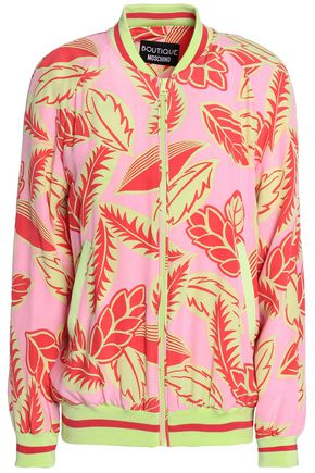 BOUTIQUE MOSCHINO Printed crepe bomber jacket