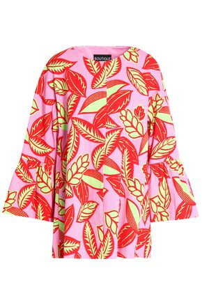 BOUTIQUE MOSCHINO Floral-print woven cotton-blend coat