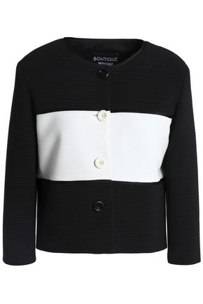 BOUTIQUE MOSCHINO Two-tone cotton-blend jacket
