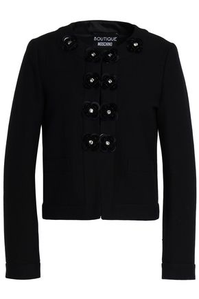 BOUTIQUE MOSCHINO Embellished cotton-blend jacquard jacket