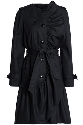 BOUTIQUE MOSCHINO Ruffled cotton-blend trench coat