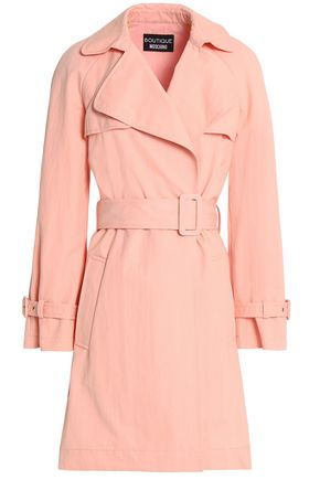 BOUTIQUE MOSCHINO Cotton-blend twill trench coat