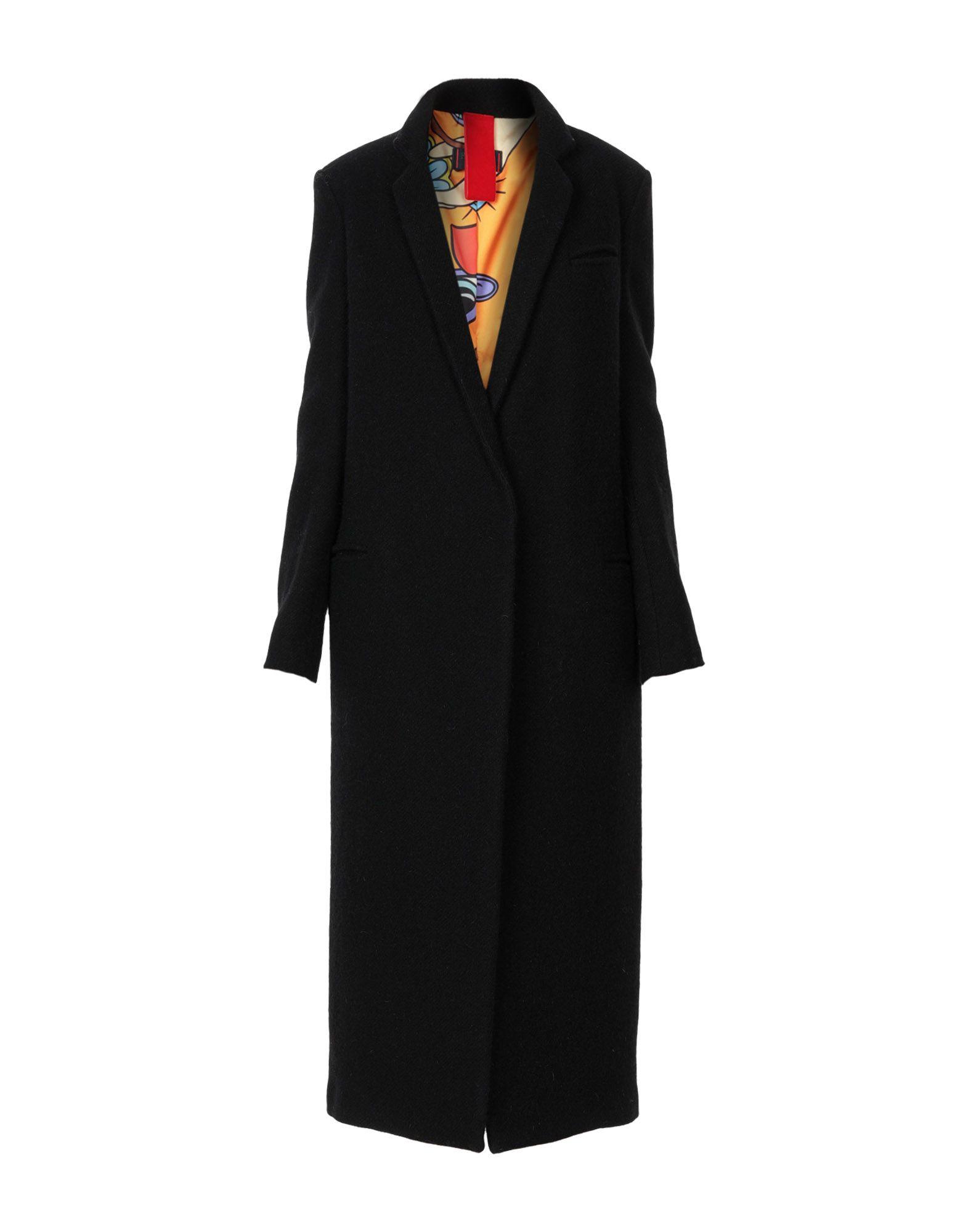 FEMME BY MICHELE ROSSI Coat in Black