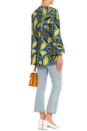 BOUTIQUE MOSCHINO Floral-print woven cotton-blend coat