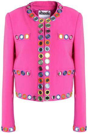 MOSCHINO Mirror-embellished crepe jacket