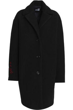 LOVE MOSCHINO Embroidered felt coat