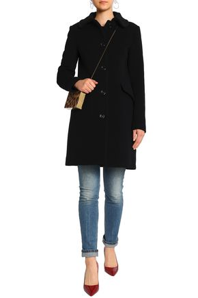 LOVE MOSCHINO Wool-blend felt coat
