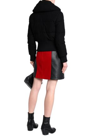 COACH Quilted wool-blend down hooded coat