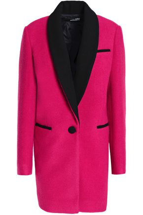 LOVE MOSCHINO Two-tone felt coat