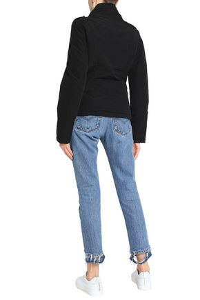 LOVE MOSCHINO Asymmetric cotton-blend shell coat