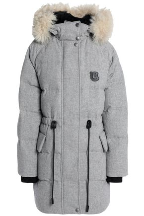 COACH Shearling-trimmed quilted wool-blend down hooded coat