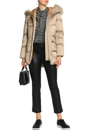 COACH Shearling-trimmed quilted shell down hooded jacket