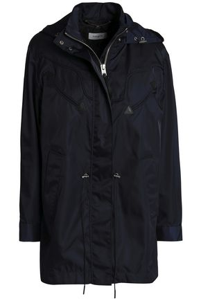 COACH Leather-trimmed shell hooded jacket