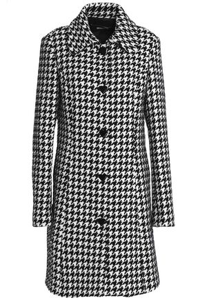 LOVE MOSCHINO Houndstooth tweed coat