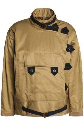 COACH Woven-trimmed asymmetric cotton-twill jacket