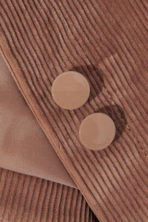 NINA RICCI Leather-paneled cotton-blend corduroy jacket