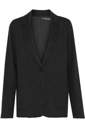 MAJESTIC FILATURES Frayed cotton and cashmere-blend blazer