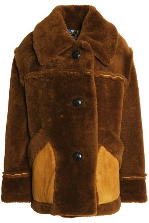COACH Suede-trimmed shearling coat