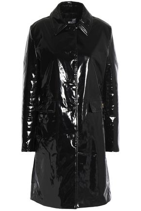 LOVE MOSCHINO Coated cotton coat