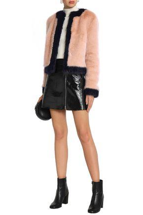 SHRIMPS Two-tone faux fur coat