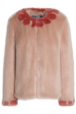 SHRIMPS Two-tone faux fur jacket