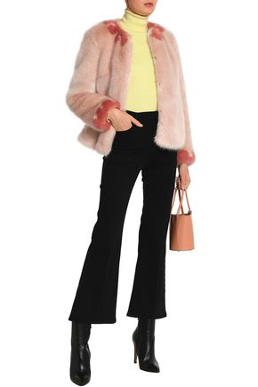 SHRIMPS Two-tone faux fur jacket