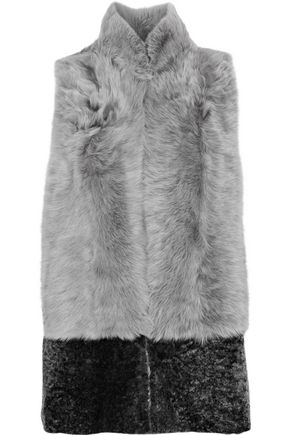 KARL DONOGHUE Paneled two-tone shearling gilet