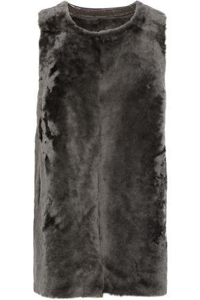 KARL DONOGHUE Reversible paneled shearling gilet
