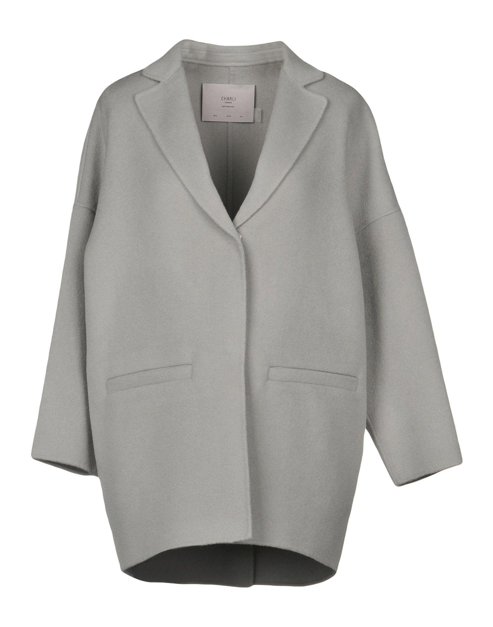 CHARLI Coat in Light Grey