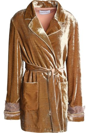 VIONNET Lace-trimmed velvet jacket