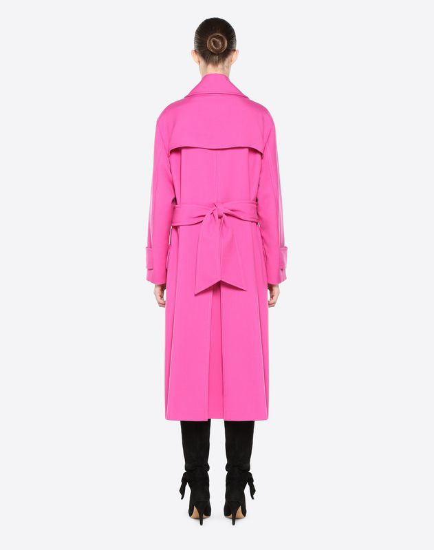 Coat in Tricotine Fabric