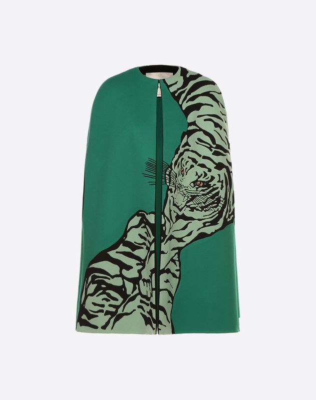 Tiger Re-edition embroidered cape