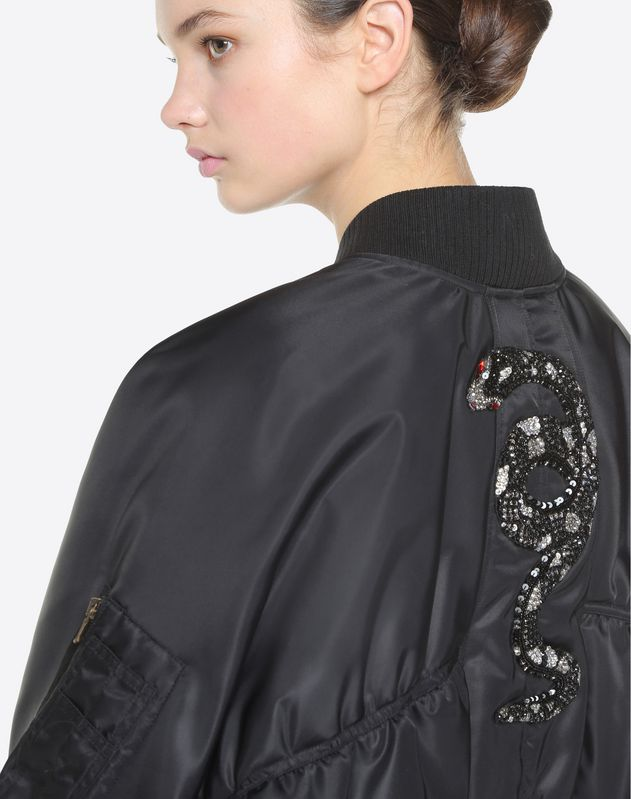 Snake Re-edition embroidered bomber jacket
