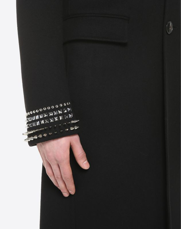 DOUBLE COAT WITH PUNK STUDS ON THE CUFFS